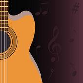Gitarr — Stockvektor