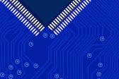 Blue microchip — Wektor stockowy