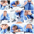 Businessman having stress - Stock Photo