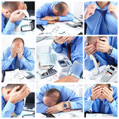 Businessman having stress — Stock Photo
