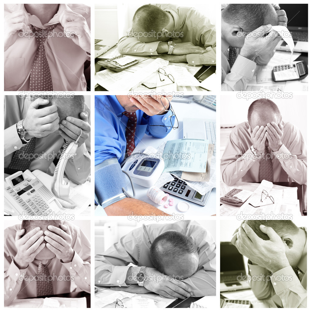 Businessman having stress in the office. Stress — Stock Photo #4635068