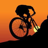 Radfahrer — Stockvektor