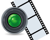 Camera and cinefilm — Stock Vector