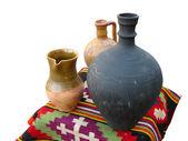 仿古土陶结束旧手工地毯 — 图库照片
