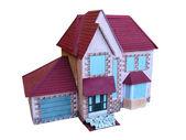 孤立的装饰线路板木房子模型 — 图库照片