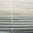 Stock Photo: Macro of new bamboo mat texture, middle focus
