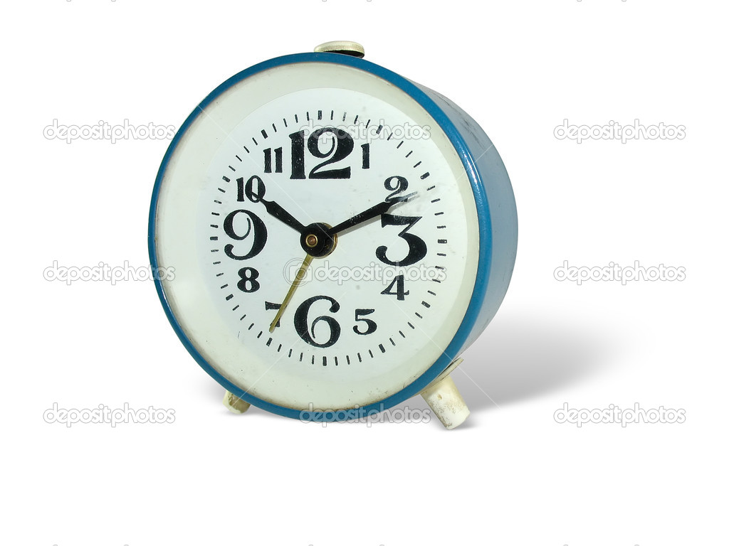 Old style alarm clock isolated over white background — Stock Photo #5315929