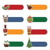 Christmas tabs — Stock Vector