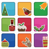 Icone di Natale — Vettoriale Stock