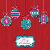 Christmas decorations — Vector de stock