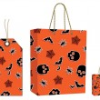 Royalty-Free Stock Imagen vectorial: Halloween bag and tag set