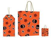 Halloween bag and tag set — Stock Vector
