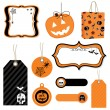 Royalty-Free Stock Vector: Halloween tags