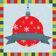 Christmas decoration greeting card — Stock vektor