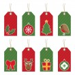 Christmas tags — Vettoriali Stock