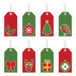 Christmas tags — Stock Vector #4074879