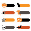 Halloween tabs — Stock Vector