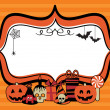 Halloween party frame — Stock Vector