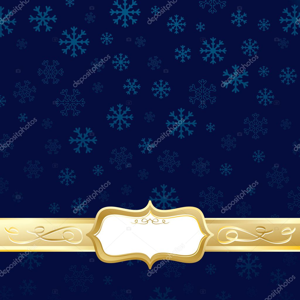 Blue and gold christmas stock vector mattasbestos 4113038 for Blue and gold christmas