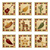 Mexican squares — Stock Vector