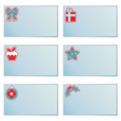 Christmas note cards — Stock Vector