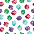 Seamless dice pattern - Stock Vector