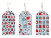 Christmas tags — Wektor stockowy