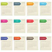 Calender for 2011 — Stock Vector