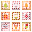 Christmas squares — Stock Vector