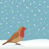 Christmas robin — Stock Vector