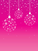 Pink christmas background — Stock Vector