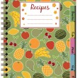 Stock Vector: Recipe notebook