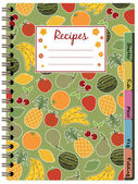 Recipe notebook — Stock Vector