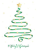 Tarjeta de árbol de Navidad — Vector de stock