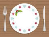 Christmas plate — Stock Vector