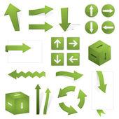 Green arrows — Stock Vector
