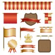 Red and gold banners - Stock Vector