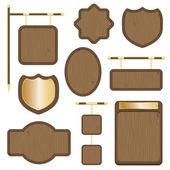 Wooden plaques — Stock Vector