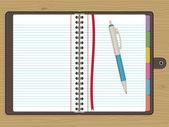 Blank notebook — Stock Vector