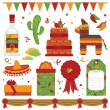 Mexican party - Imagens vectoriais em stock
