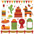 Mexican party — Stock Vector