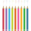 Colour sketching pencils — Stock Vector #5288888