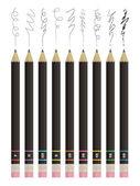 Crayons esquisse — Vecteur