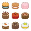 Stock Vector: Tasty cakes