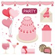 Pink party — Stock Vector
