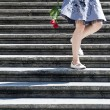 Staircase romance - Stock Photo