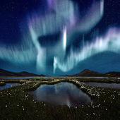 Aurora Borealis — Stock Photo