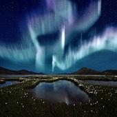 Aurora borealis — Stockfoto