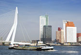 River transport in Rotterdam — Stock Photo