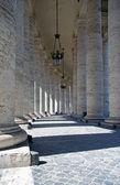Saint Peter's columns — Stock Photo